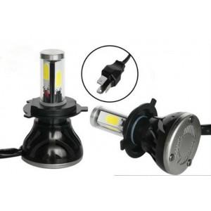 Kit 2 Ampoules Led H4 4000 LUMENS 12-24V - Blanc Xenon