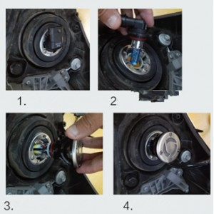 Installation et montage d'un kit LED haut puissance