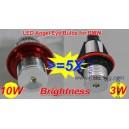 Ampoule LED 10W anneaux angel eyes pour BMW Série 1 E87 / Série 5 E39/E60/E61 / Série 7 E65/E66 / X5 E53