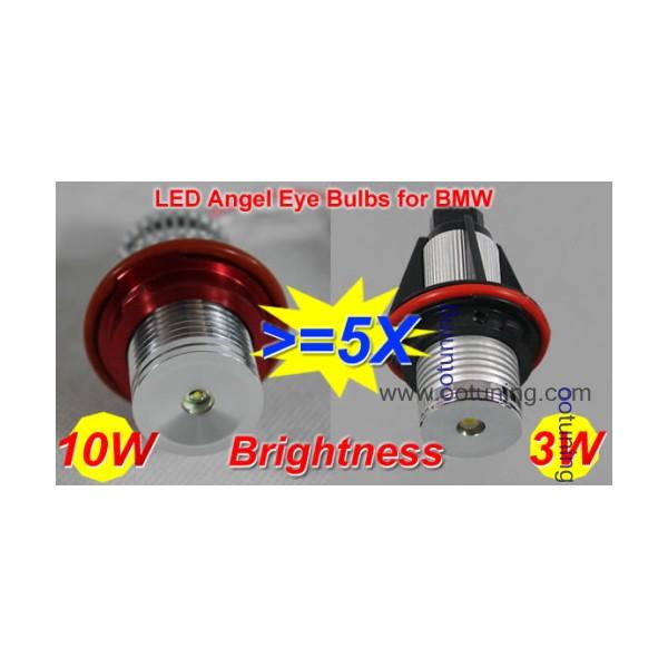 ampoule led 10w anneaux angel eyes pour bmw s rie 1 5 7 x5. Black Bedroom Furniture Sets. Home Design Ideas