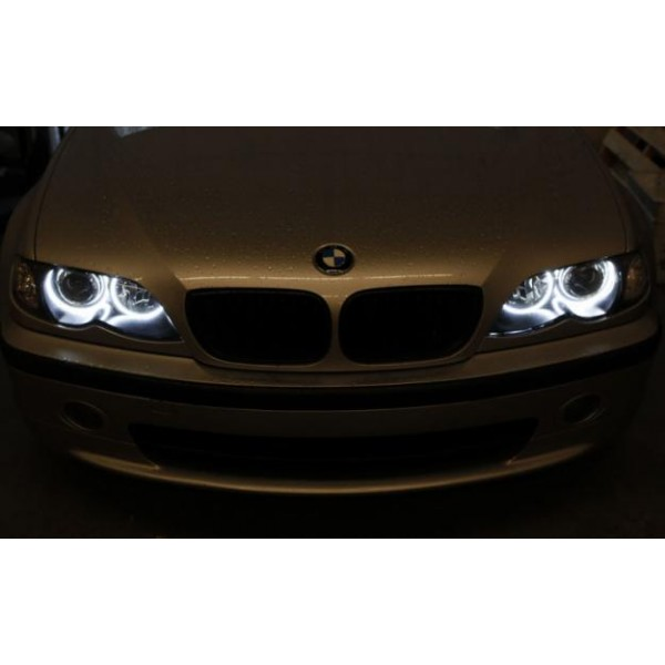 4 anneaux n on ccfl blanc angel eyes pour bmw e46 phare. Black Bedroom Furniture Sets. Home Design Ideas