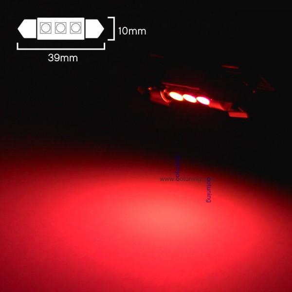 1 ampoule led 39 c7w rouge anti erreur canbus - Ampoule led rouge ...