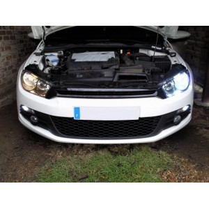 montage kit x non sur vw golf 6 scirocco led voiture pack led kit. Black Bedroom Furniture Sets. Home Design Ideas
