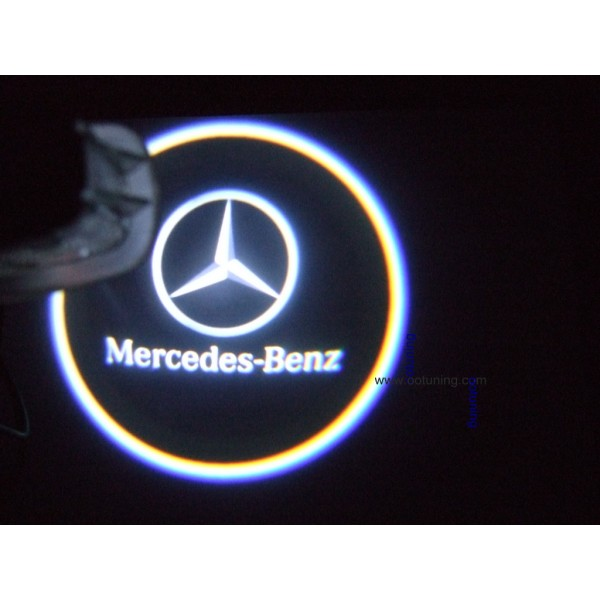2 ampoules led logo mercedes benz. Black Bedroom Furniture Sets. Home Design Ideas