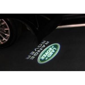 2 Modules d'éclairage à led projective logo Land Rover pour bas de porte