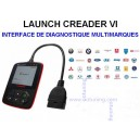 LAUNCH CREADER VI - Interface De Diagnostique MULTI-MARQUES / OBDII - VAG COM