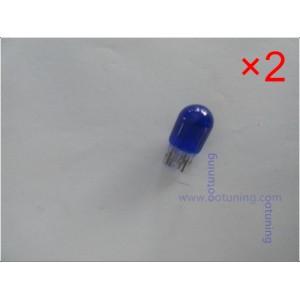 Pack 2 ampoules halogènes T20 W21W Effet Xénon Bleu