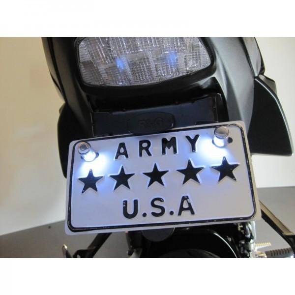 kit led clairage de plaque moto scooter ootuning. Black Bedroom Furniture Sets. Home Design Ideas
