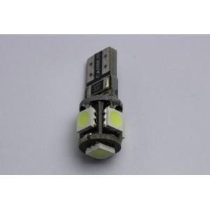 1 Ampoule Led T10 5 smd ODB Blanc- Anti-erreur ordinateur de bord W5W