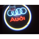 2 Modules d'éclairage à led projective logo AUDI pour bas de porte