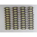 Lot de 40 Ampoules LED navette C7W 3SMD anti erreur