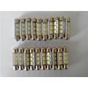 1 Ampoule LED Navette 39MM 3 SMD Blanc Xénon
