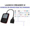 LAUNCH CREADER VI - Interface De Diagnostique MULTI-MARQUES / OBDII - VAG COM